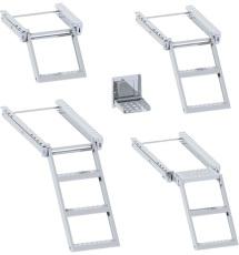Auszieh, Leiter, Tritt, Klappleiter, Ausziehleiter, Aufstieg, Treppe, Klappe, Ausziehbare Stufen-Trittleiter